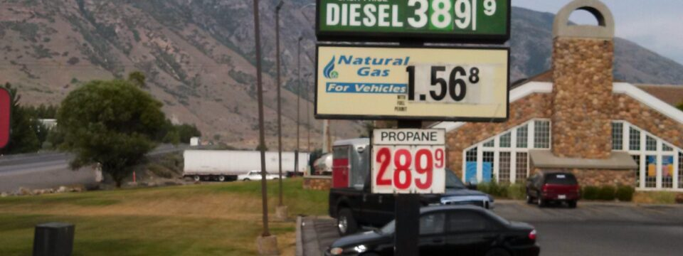CNG averages under $1.60 per gallon in Utah!